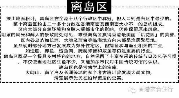 香港【衣食住行】之离岛区篇