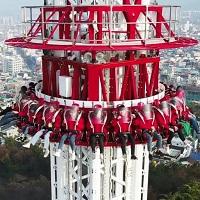 韩国最高跳楼机于大邱即将开幕 时速124公里急坠30层楼!